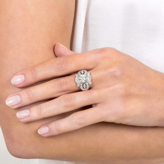 Art Deco 1.50 Carat Diamond Engagement Ring - GIA L VS1