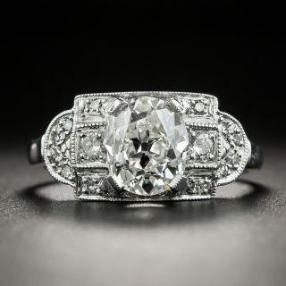 Art Deco 1.54 Carat Oval Diamond Engagement Ring - GIA  I VS1 - 2