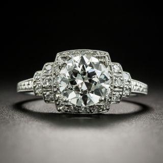 Art Deco 1.58 Carat Diamond Engagement Ring - GIA H VS2 - 2