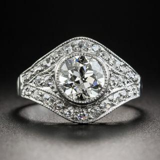 Art Deco 1.61 Carat Platinum Diamond Engagement Ring - 1