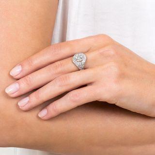 Art Deco 1.61 Carat Platinum Diamond Engagement Ring