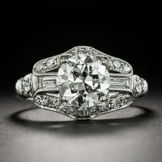 Art Deco 1.64 Carat Diamond Engagement Ring - GIA H VS2 - 2