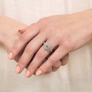 Art Deco 1.64 Carat Diamond Engagement Ring - GIA H VS2