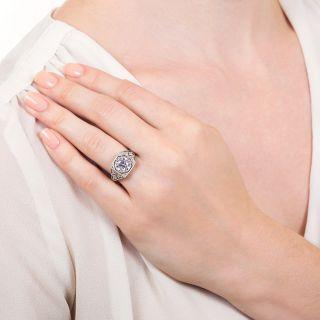Art Deco 1.72 Carat Diamond Engagement Ring - GIA J VS2