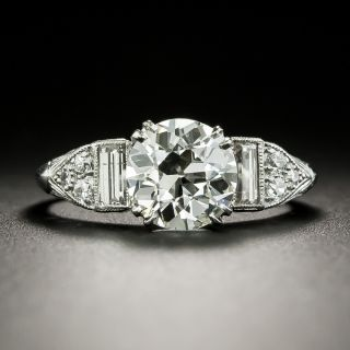 Art Deco 1.73 Carat Diamond Engagement Ring - GIA J SI1 - 3