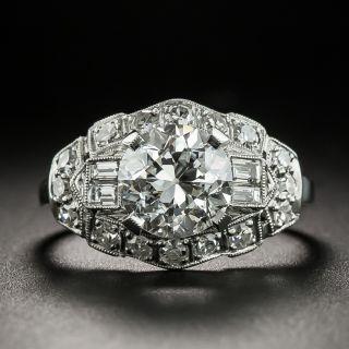 Art Deco 1.73 Carat Diamond Platinum Engagement Ring - GIA F VS2 - 2