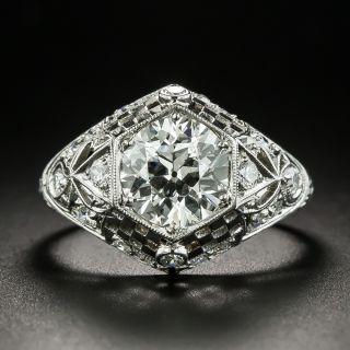 Art Deco 1.74 Carat Diamond Engagement Ring - GIA I SI2 - 2