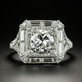 Art Deco 1.75 Carat Diamond Engagement Ring - GIA G VS1 - 2