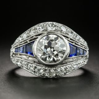Art Deco 1.78 Carat Diamond Engagement Ring  - GIA I VS2 - 2