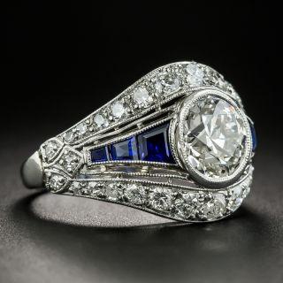 Art Deco 1.78 Carat Diamond Engagement Ring  - GIA I VS2