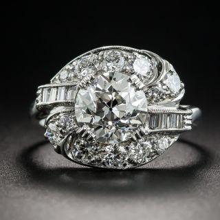 Art Deco 1.84 Carat Diamond Platinum Engagement Ring - GIA J VS1 - 1