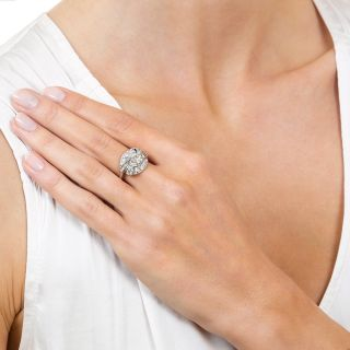 Art Deco 1.84 Carat Diamond Platinum Engagement Ring - GIA J VS1