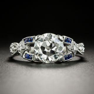 Art Deco 1.87 Carat Diamond Engagement Ring - GIA J SI2 - 3