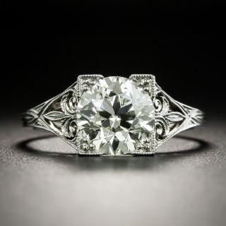 Art Deco 1.92 Carat Diamond Engagement Ring - GIA N VS2 - 2