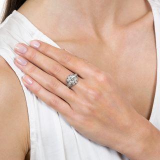 Art Deco 1.93 Carat Diamond Platinum Engagement Ring