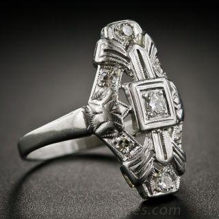 Art Deco 1930s Platinum and Diamond Dinner Ring