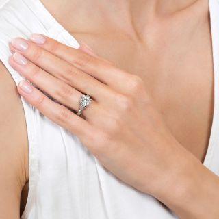 Art Deco 2.01 Carat Platinum Engagement Ring - GIA I SI2