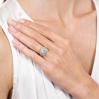 Art Deco 2.07 Carat Diamond Platinum Engagement Ring - GIA H VS1