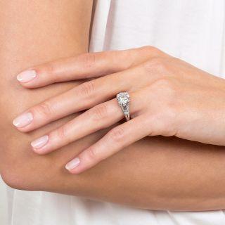 Art Deco 2.21 Carat Diamond Engagement Ring  - GIA I VVS2