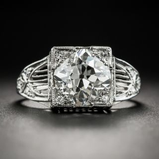 Art Deco 2.21 Carat Diamond Platinum Engagement Ring - GIA I SI2 - 2