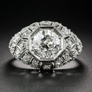 Art Deco 2.28 Carat Diamond Engagement Ring - GIA J VS2 - 1