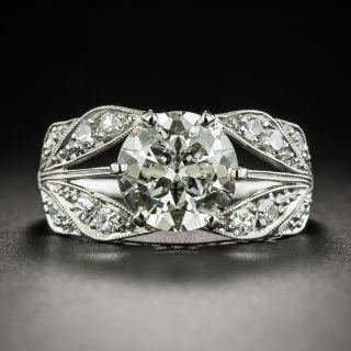 Art Deco 2.36 Carat Diamond Engagement Ring - GIA - 2