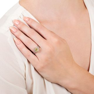 Art Deco 2.50 Carat Old Mine Cut Diamond Engagement Ring - GIA