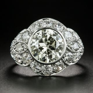 Art Deco 2.77 Carat Diamond Engagement Ring - GIA - 2
