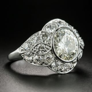 Art Deco 2.77 Carat Diamond Engagement Ring - GIA