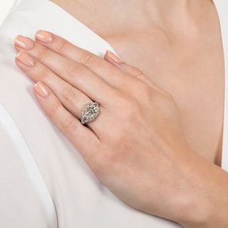 Art Deco 2.85 Carat Asscher-Cut Diamond Engagement Ring by Birks - GIA I VS1