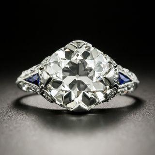Art Deco 3.30 Carat Diamond Engagement Ring - GIA M SI1 - 2