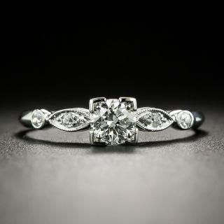 Art Deco .33 Carat Diamond Engagement Ring - 2
