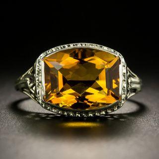 Art Deco 4.00 Carat Citrine Ring - 3