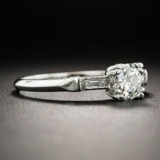 Art Deco .46 Carat Platinum Diamond Engagement Ring