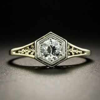 Art Deco .46 Carat Solitaire Engagement Ring - 3