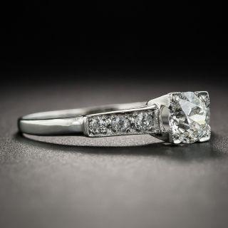 Art Deco .48 Carat Diamond Platinum Engagement Ring