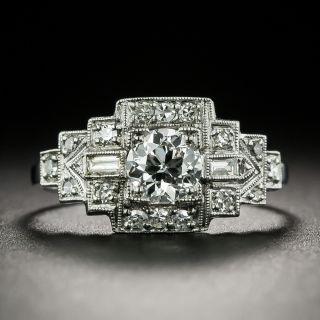 Art Deco .49 Carat Diamond Engagement Ring - GIA E VS2 - 1