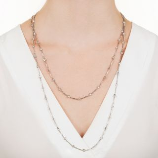Art Deco 49-Inch 'Diamonds By The Yard' Platinum Necklace