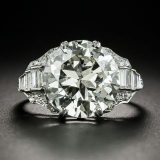 Art Deco 5.25 Carat Diamond Engagement Ring - GIA M VS2 - 2