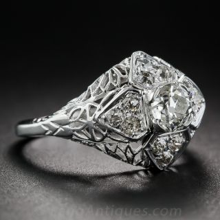 Art Deco.50 Carat Diamond Dome Ring