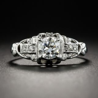 Art Deco .50 Carat Diamond Engagement Ring - 1
