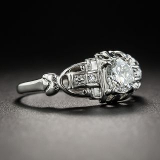 Art Deco .50 Carat Diamond Engagement Ring