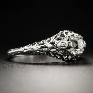 Art Deco .55 Carat Cushion-Cut Diamond Engagement Ring by Traube