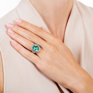 Tiffany & Co. Art Deco 6.25 Carat Emerald Ring - AGL Enhancement 'None'
