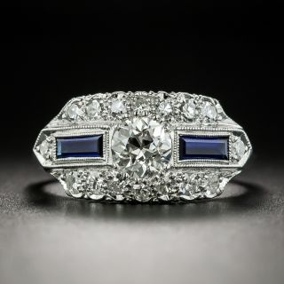 Art Deco .60 Carat Diamond Engagement Ring - 2