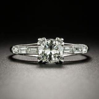 Art Deco .60 Carat Diamond Engagement Ring - 3