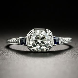 Art Deco .62 Carat Diamond Engagement Ring by Belais - 3
