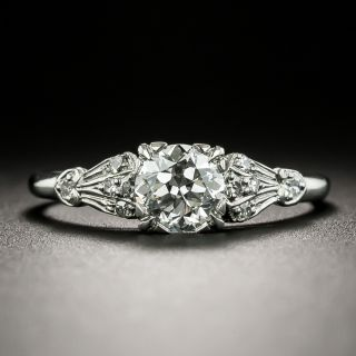 Art Deco .64 Carat Diamond Engagement Ring by Traube - GIA E SI1 - 3