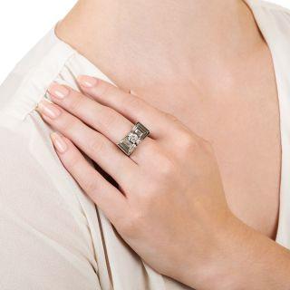 Art Deco .65 Carat Diamond Bow Ring