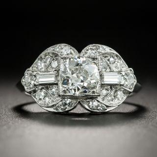 Art Deco .65 Carat Diamond Engagement Ring - 2